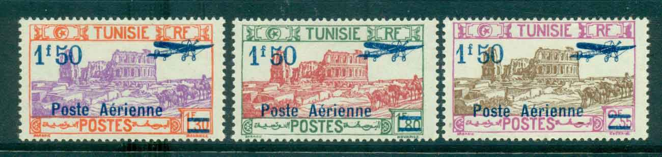 Tunisia 1930 Air Post Opt Surch MLH Lot46417