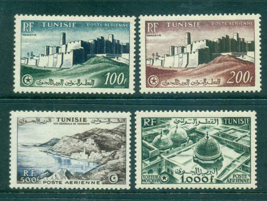 Tunisia 1953-54 Air mail Pictorials MLH Lot46461