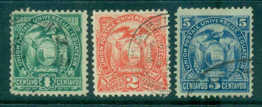 Ecuador 1887 Coat of Arms (3/4 no 80c) FU Lot46582