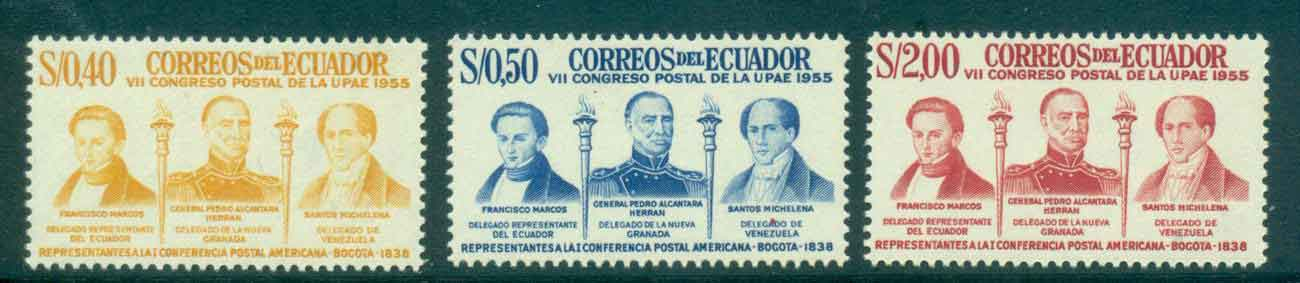 Ecuador 1957 Postal Congress MUH Lot46705