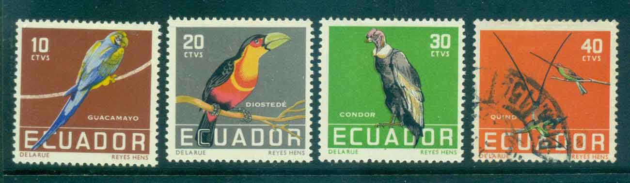 Ecuador 1958 Birds MLH/FU Lot46711