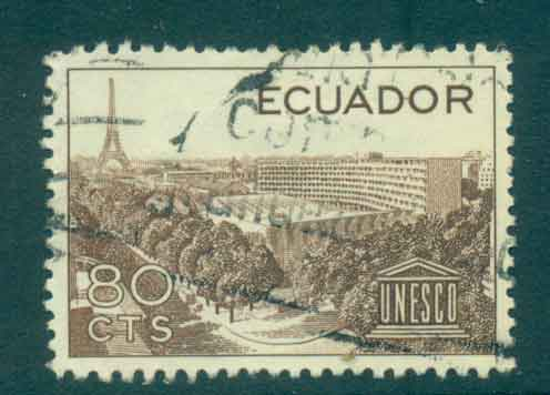 Ecuador 1958 UNESCO FU Lot46716