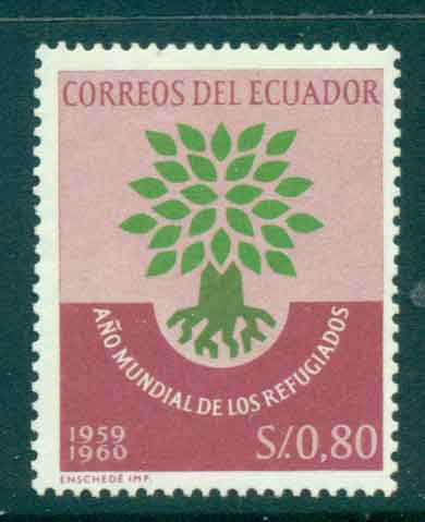 Ecuador 1960 World refugee year MUH Lot46719