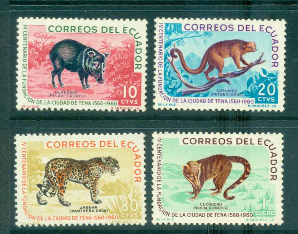 Ecuador 1961 Animals MLH Lot46723