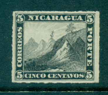 Nicaragua 1878-80 5c Liberty cap on Mountain Rouletted MH Lot46758