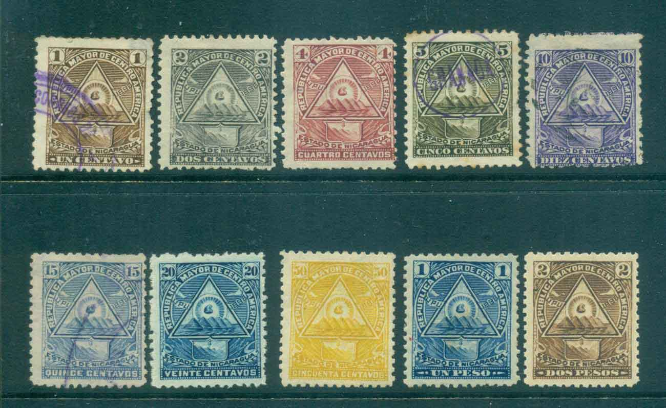Nicaragua 1898 Coat of Arms (faults,thins,inclusions) MH/MNG/FU Lot46768