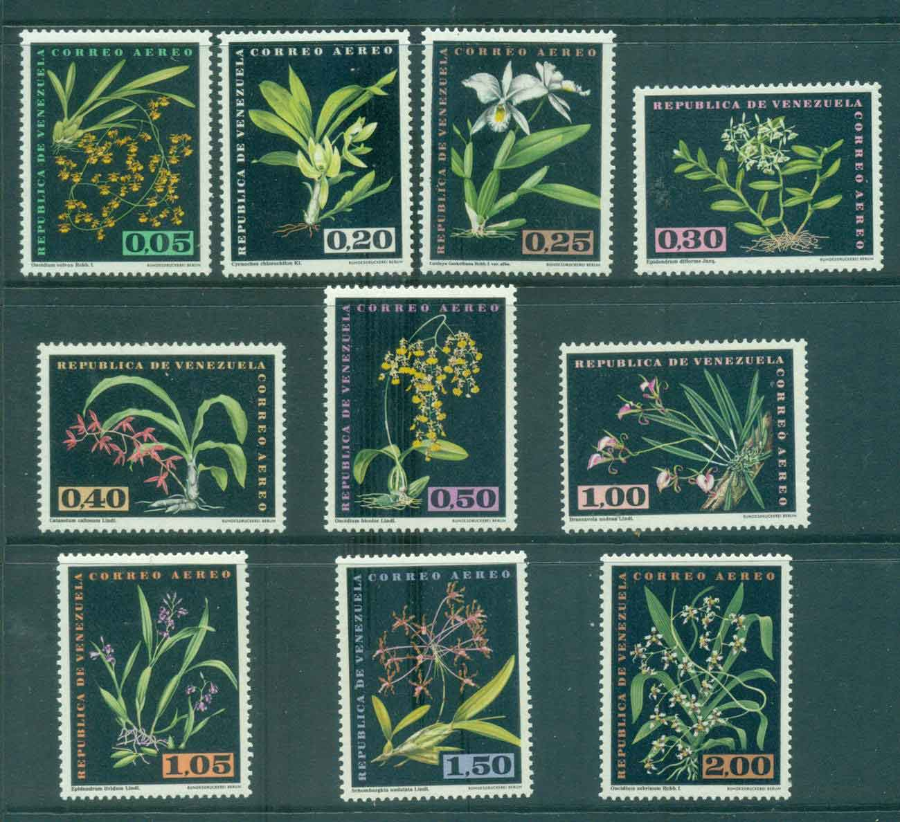 Venezuela 1962 Air Mail Orchids MLH Lot46838