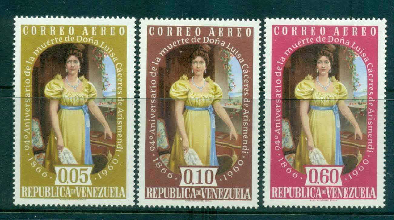 Venezuela 1960 Air Mail Luisa Caceres de Arismendi MLH Lot46854
