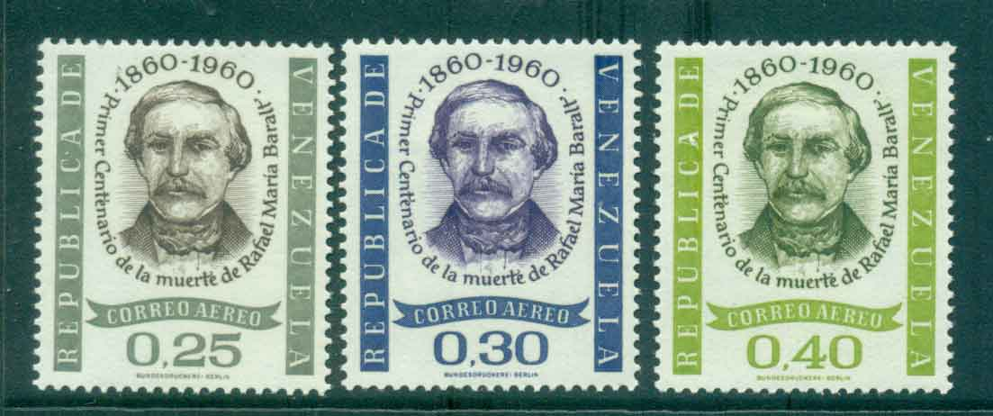 Venezuela 1961 Air Mail Rafael Baralt MLH Lot46858