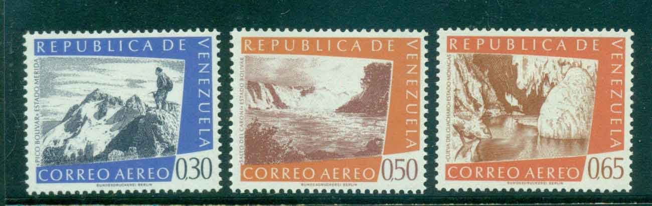 Venezuela 1960 Air Mail Views MLH Lot46860