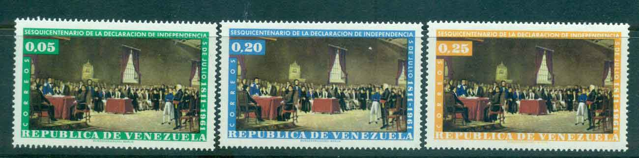Venezuela 1960 Independence (no Airs)MLH Lot46871