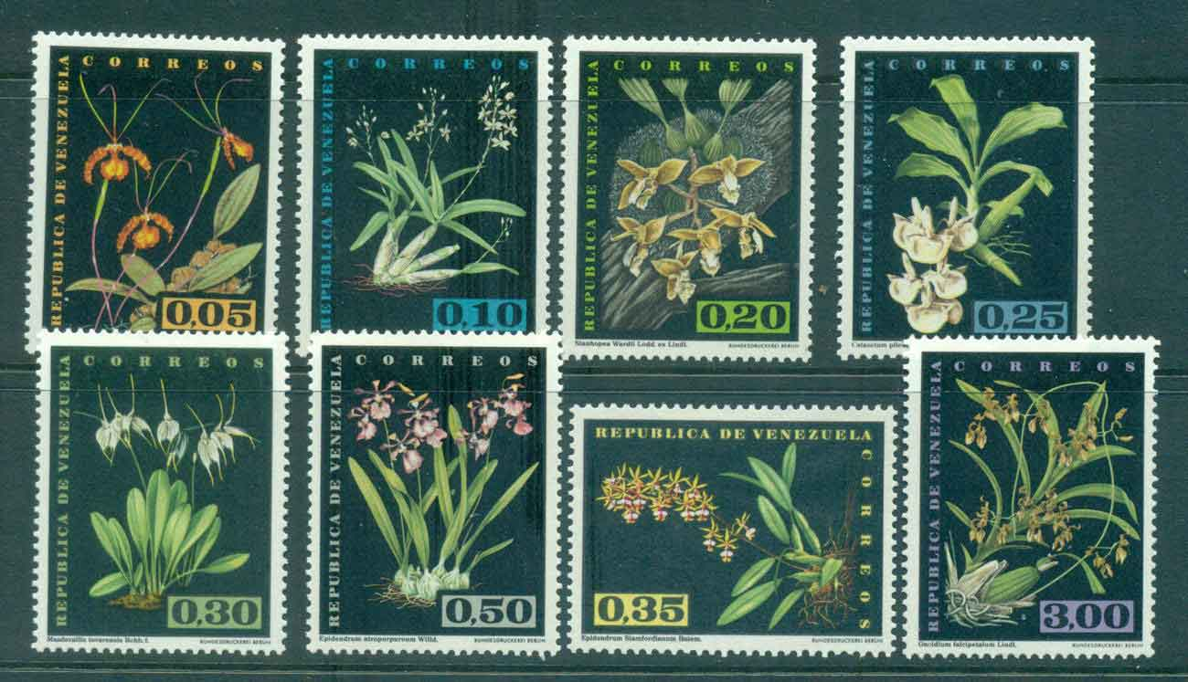 Venezuela 1962 Orchids (no Airs)MLH Lot46872