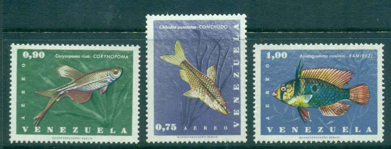 Venezuela 1966 Fish Air Mail MLH Lot46904