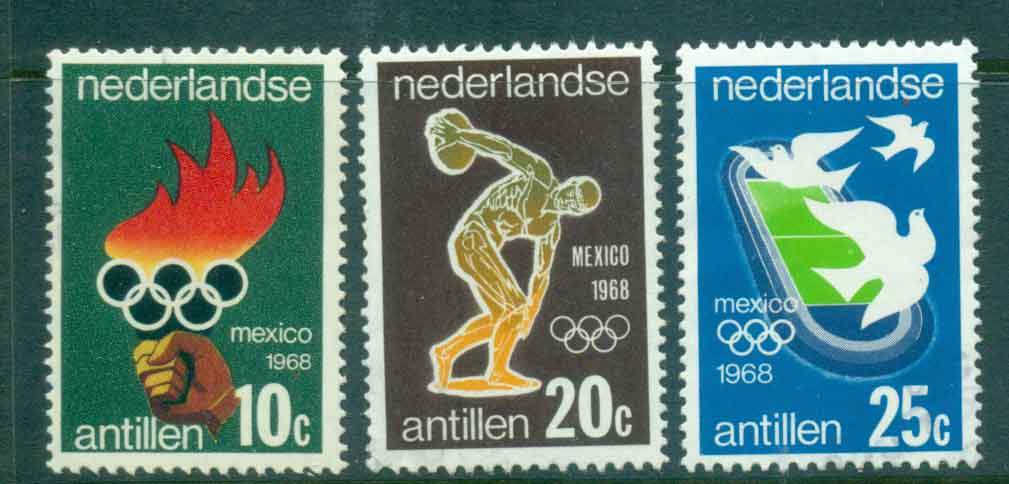 Netherlands Antilles 1968 Olympics Mexico FU Lot47090