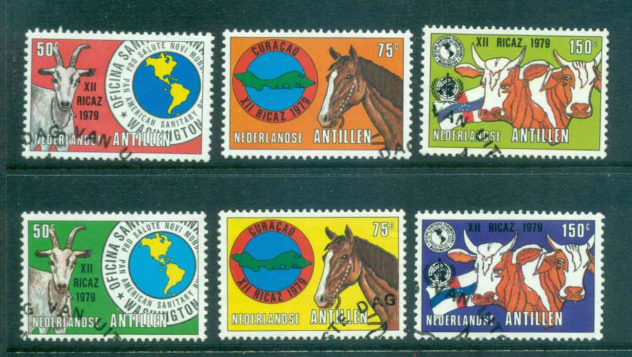 Netherlands Antilles 1979 Foot & Mouth, both cols. FU Lot47100