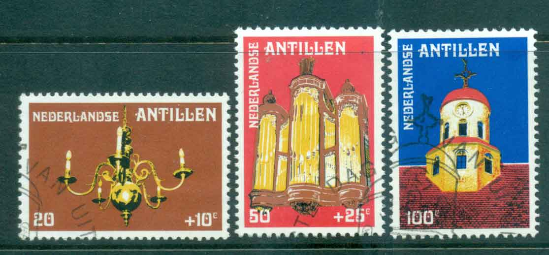 Netherlands Antilles 1980 Fort Church Curacao FU Lot47101