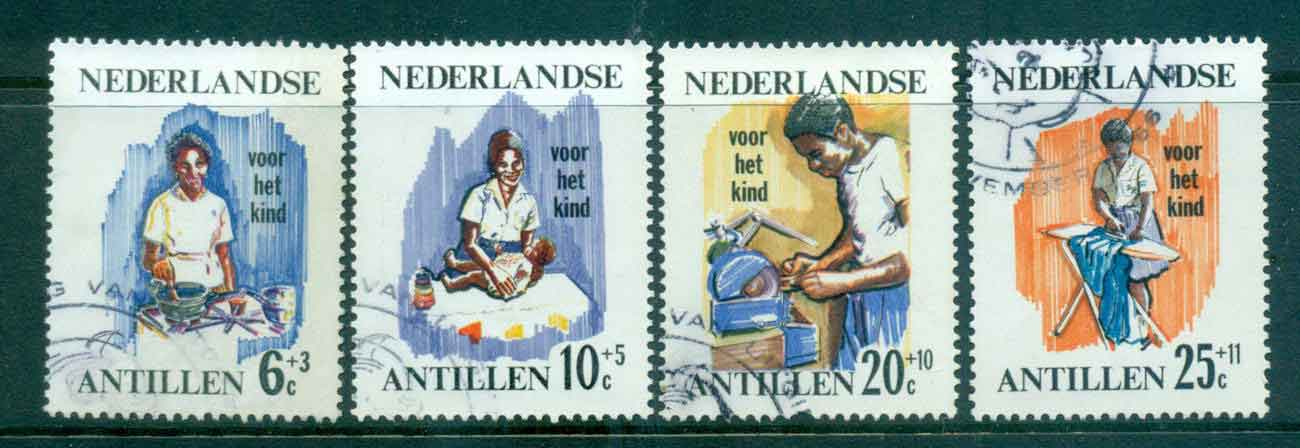 Netherlands Antilles 1966 Child Welfare Nurses FU Lot47109