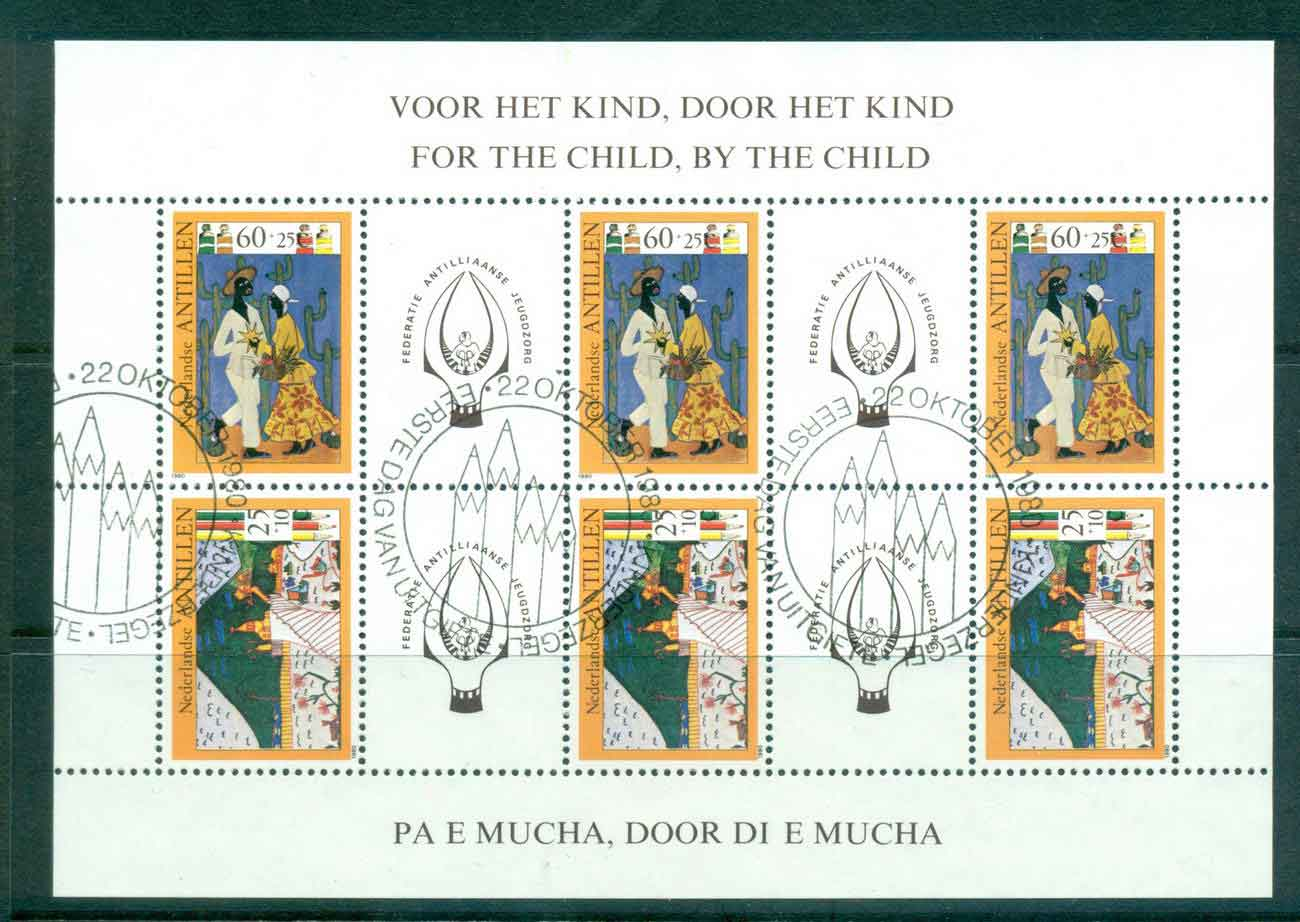 Netherlands Antilles 1979 Child Welfare Childrens Drawings MS FU Lot47119
