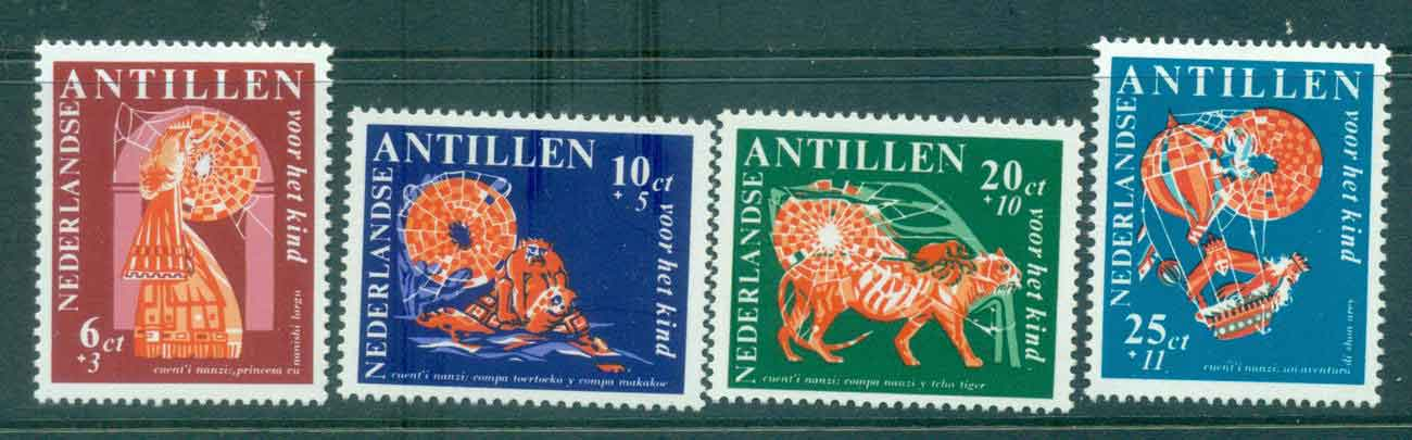 Netherlands Antilles 1967 Child Welfare, Nanzi Stories, Folklore MUH Lot47180