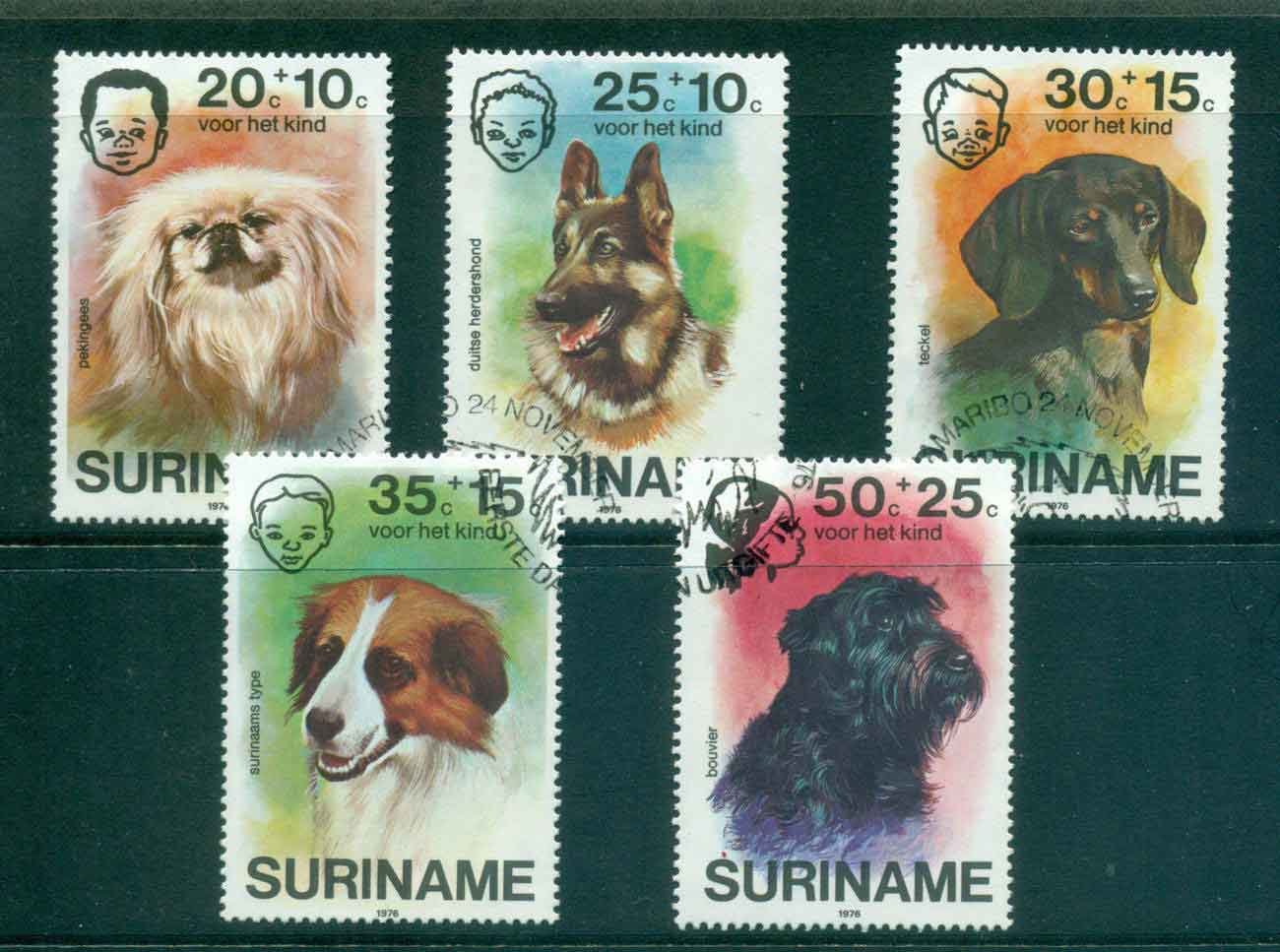 Surinam 1976 Child Welfare, Dogs FU Lot47219