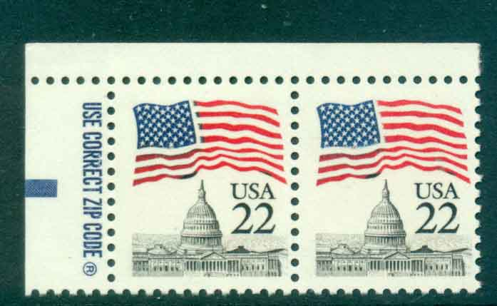USA 1985 Sc#2114 22c Flag over Capitol Dome pr MUH lot47328