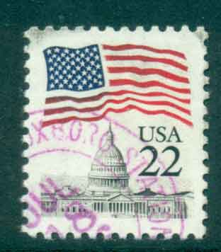 USA 1985 Sc#2114 22c Flag over Capitol Dome FU lot47330