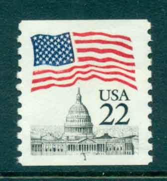 USA 1985 Sc#2115 22c Flag over Capitol Dome Coil PNS#1 MUH lot47369
