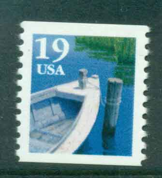 USA 1991 Sc#2529a 19c Fishing Boat Coil TyII MUH lot47576