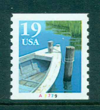 USA 1991 Sc#2529a 19c Fishing Boat Coil TyII PNS#A7779 MUH lot47588