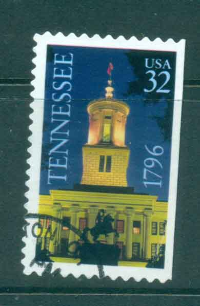 USA 1996 Sc#3071 Tenessee Statehood ex Booklet FU lot48138