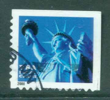 USA 2000 Sc#3451 34c Statue of Liberty FU lot48786