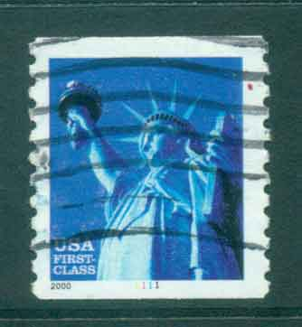 USA 2000 Sc#3452 34c Statue of Liberty Coil P9.97 PNS#1111 FU lot48791