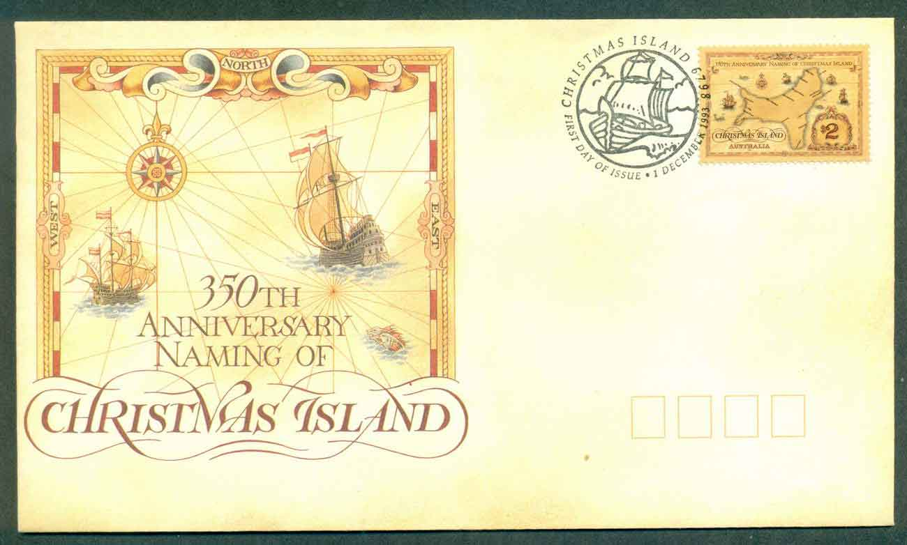 Christmas Is 1993 Naming Anniv FDC lot48958