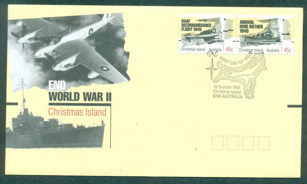 Christmas Is 1995 End of WWII FDC lot48960