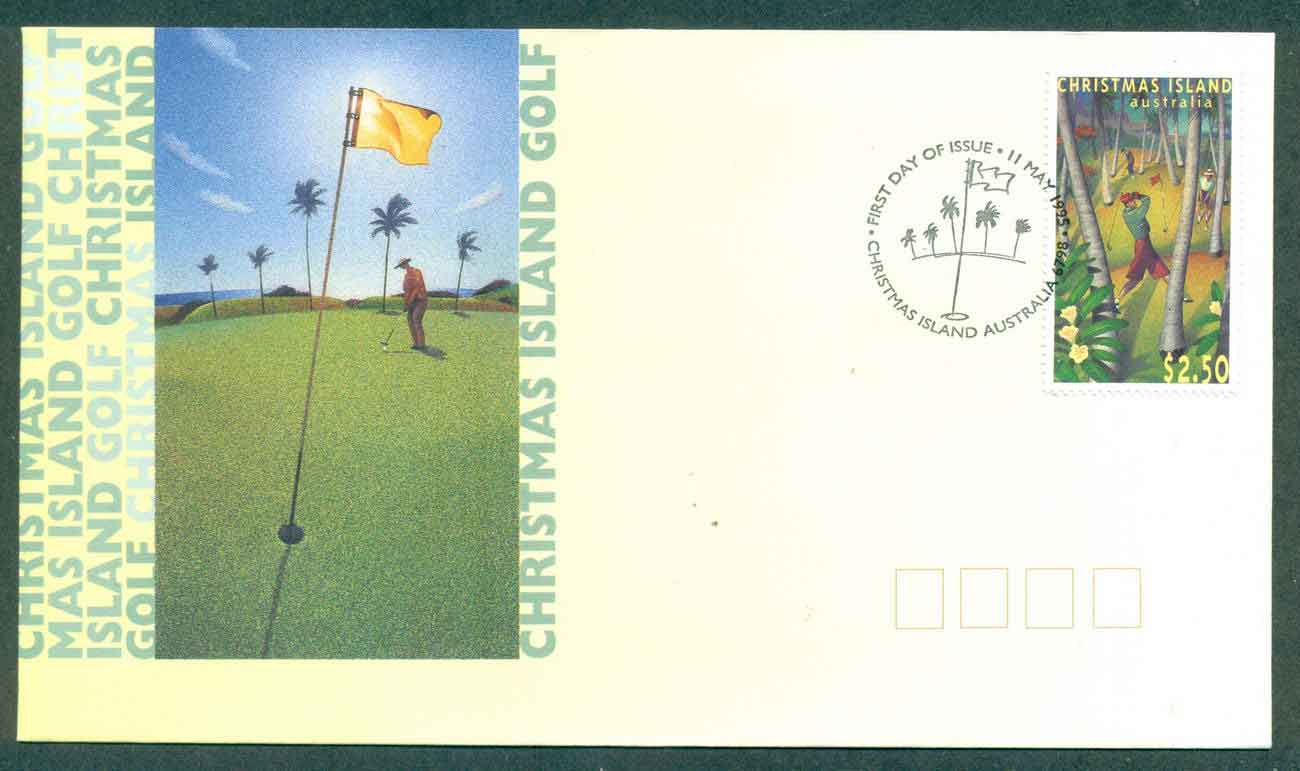 Christmas Is 1995 Golf FDC lot48961