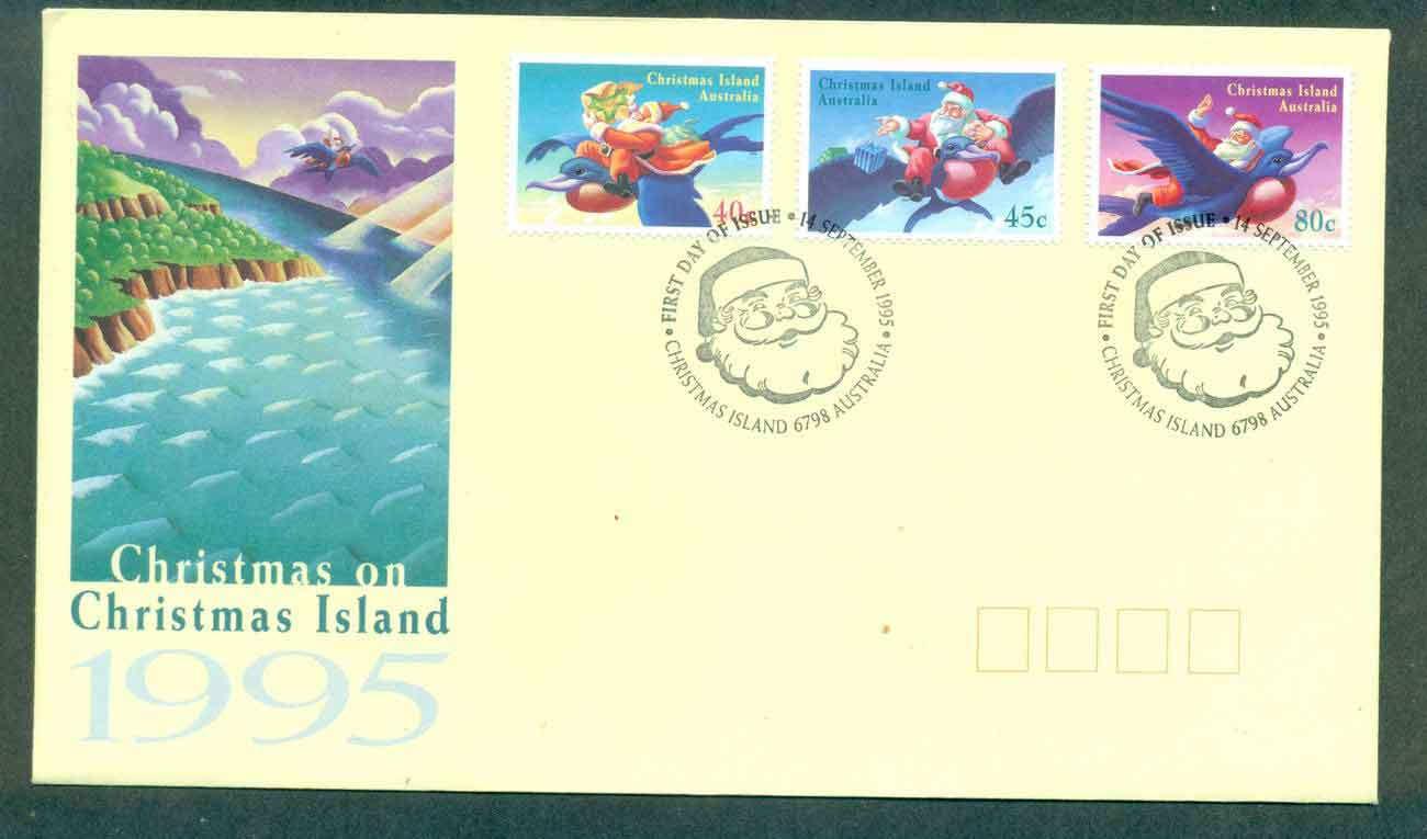 Christmas Is 1995 Xmas FDC lot48962
