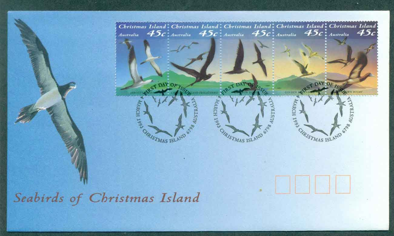 Christmas Is 1993 Seabirds Str 5 FDC lot48964