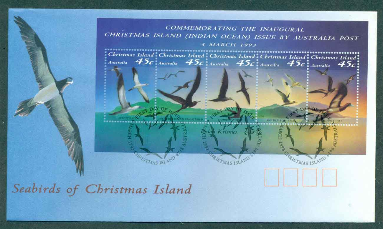 Christmas Is 1993 Seabirds MS FDC lot48965