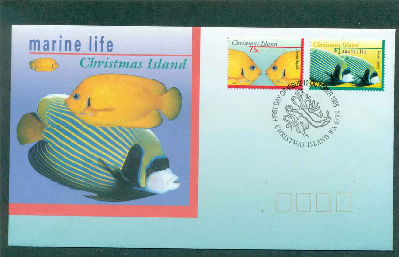 Christmas Is 1995 Marine Life I, 75, $1 FDC lot48966