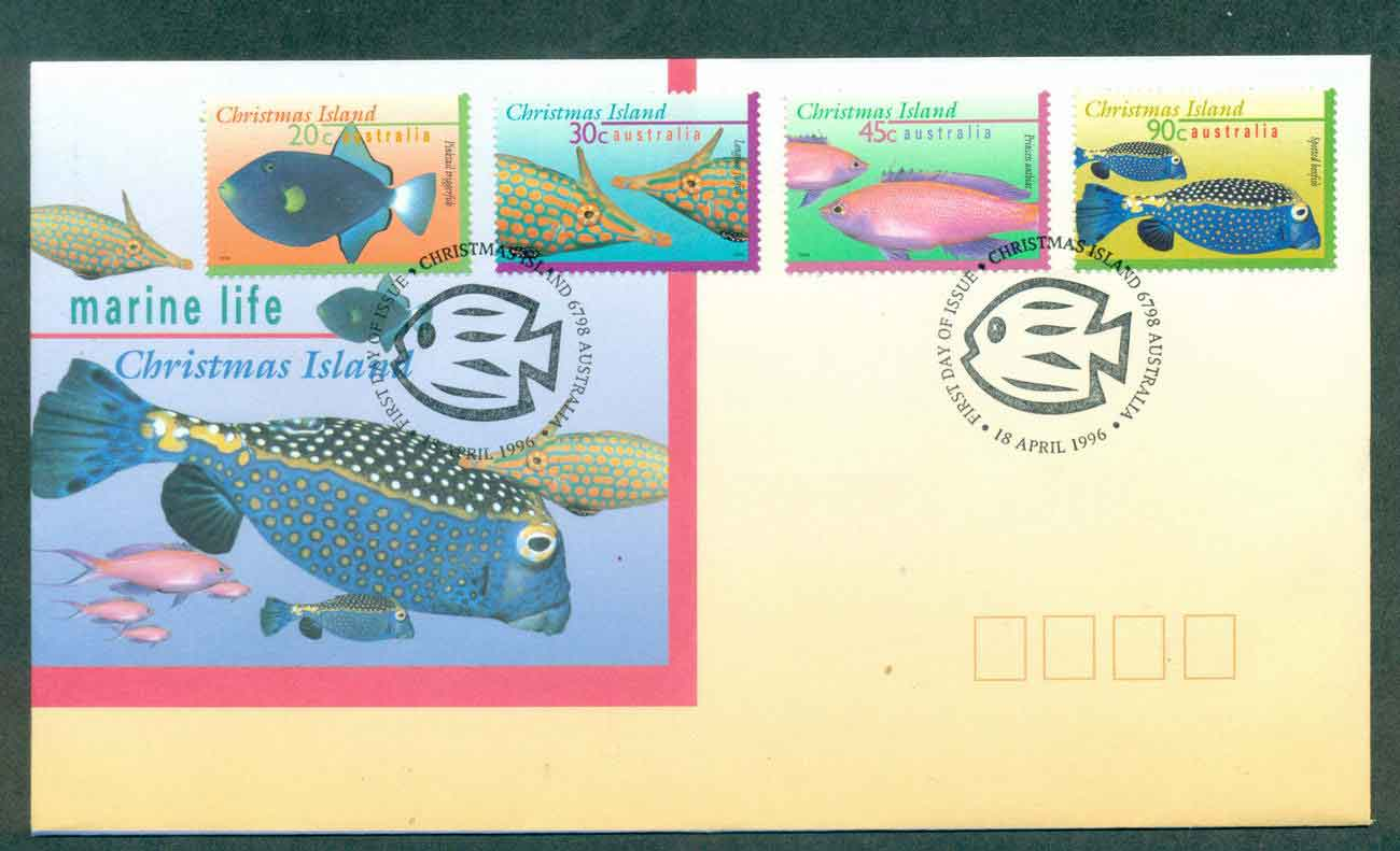 Christmas Is 1996 Marine Life II, 20,30,45,90 FDC lot48968