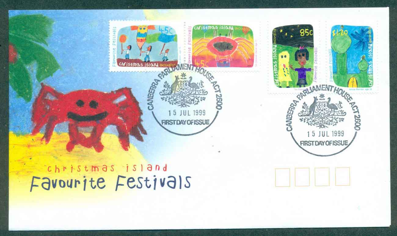 Christmas Is 1999 Favourite Festivals, Parliament house FDC lot48969