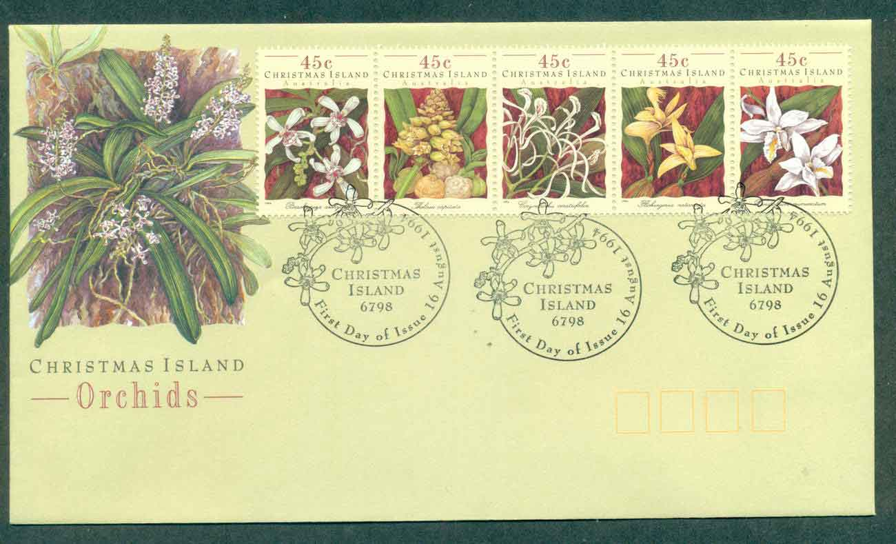 Christmas Is 1994 Orchids FDC lot48973