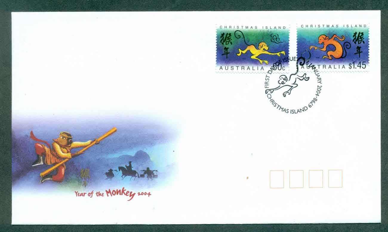 Christmas Is 2004 New Year of the Monkey MS FDC lot48987