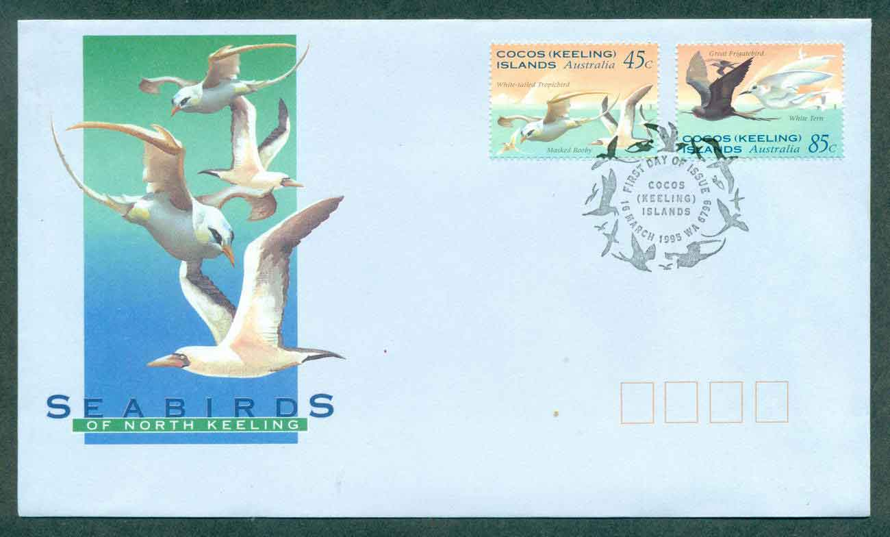 Cocos Keeling Is 1995 Sea Birds FDC lot49000