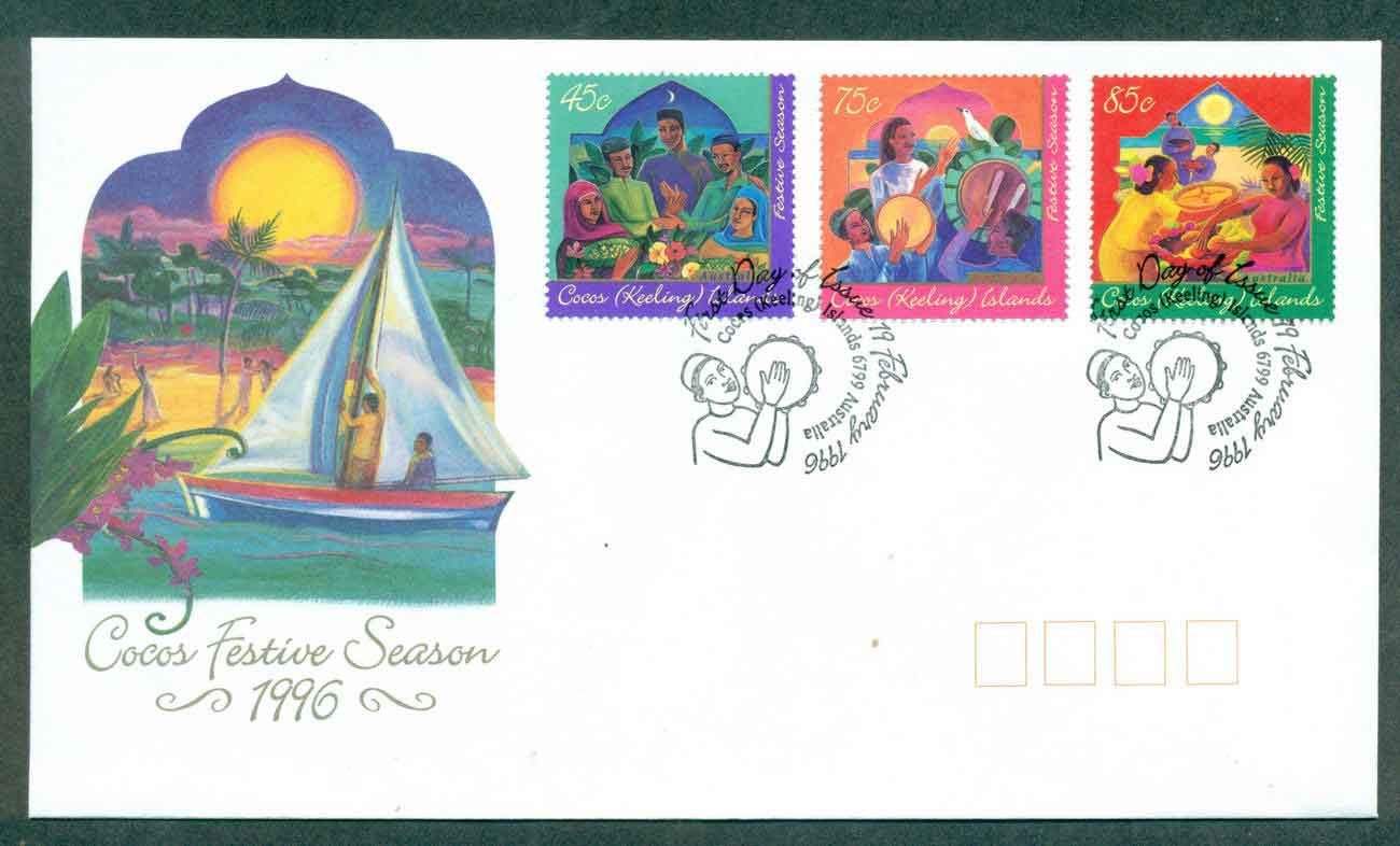 Cocos Keeling Is 1996 Festive Season FDC lot49006
