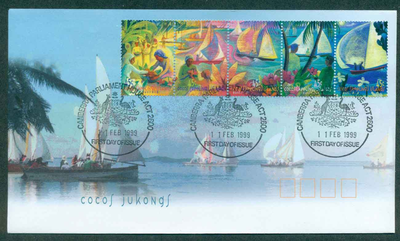 Cocos Keeling Is 1999 Jukong Boats Srt 5 FDC lot49007