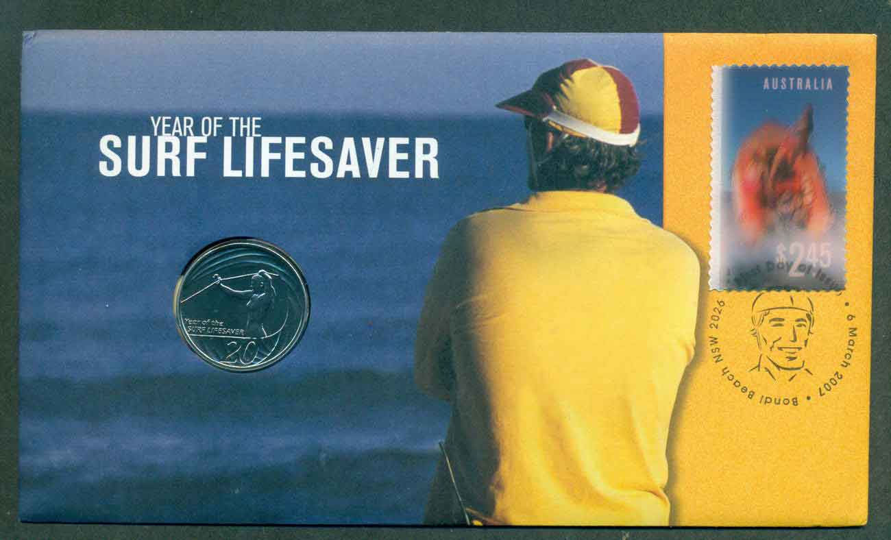 Australia 2007 Surf Lifesavers PNC (fv $14.95) lot49227