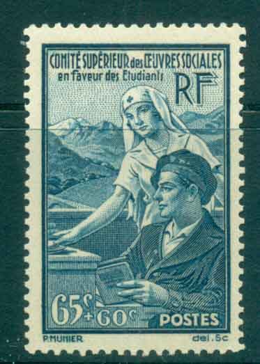 France 1938 Student Relief MLH lot49281