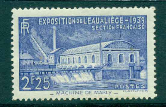 France 1939 1.25f Pumping Station at Marly MLH lot49284