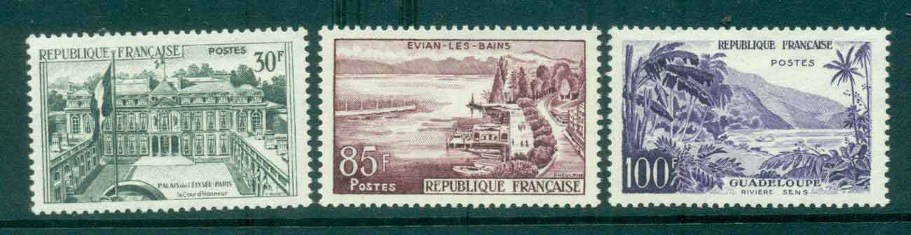 France 1959 Pictorials (3) MLH lot49343